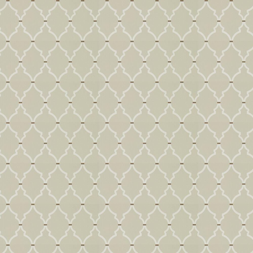 Empire Trellis Wallpaper - Linen / Cream - by Sanderson