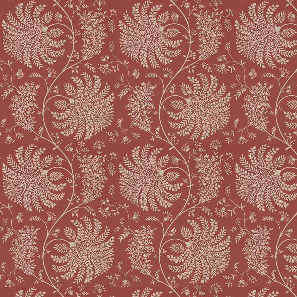 Mapperton Wallpaper - Russet / Cream - by Sanderson