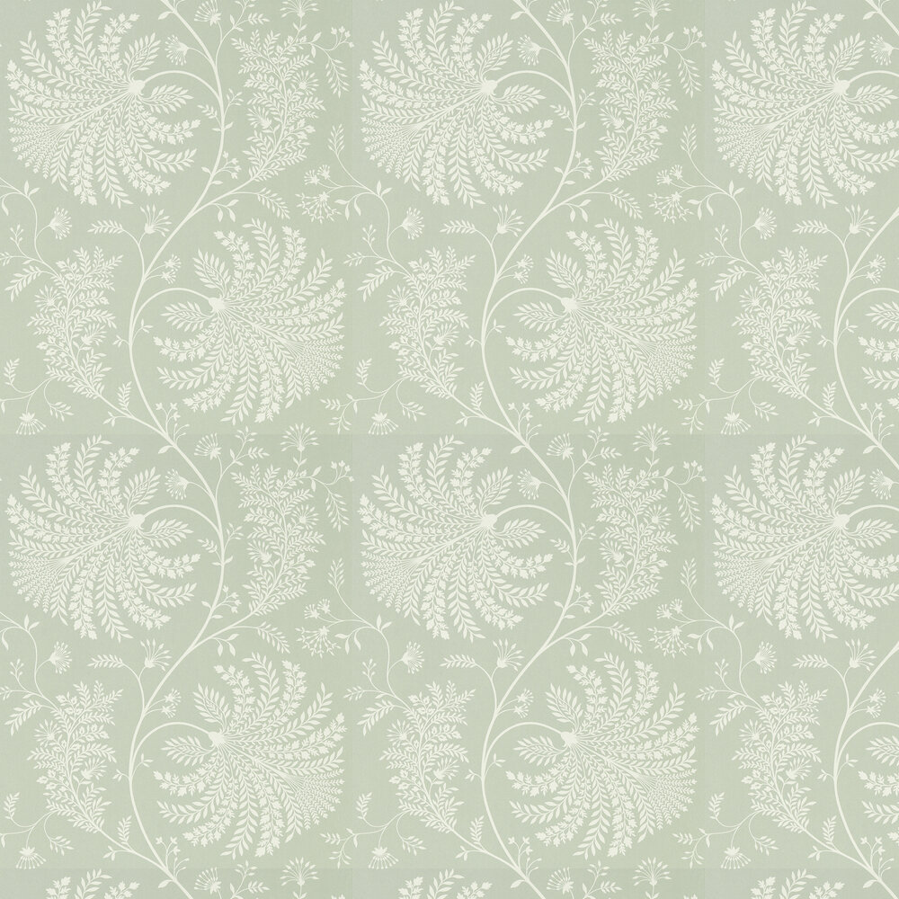Mapperton Wallpaper - Sage / Cream - by Sanderson