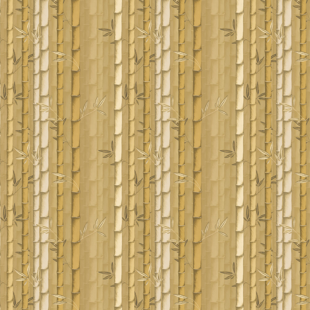 Bamboo Wallpaper - Mustard - by Osborne & Little