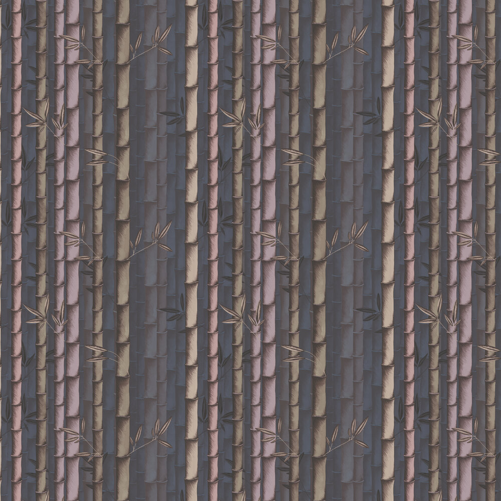 Bamboo Wallpaper - Dark Dove / Heather - by Osborne & Little