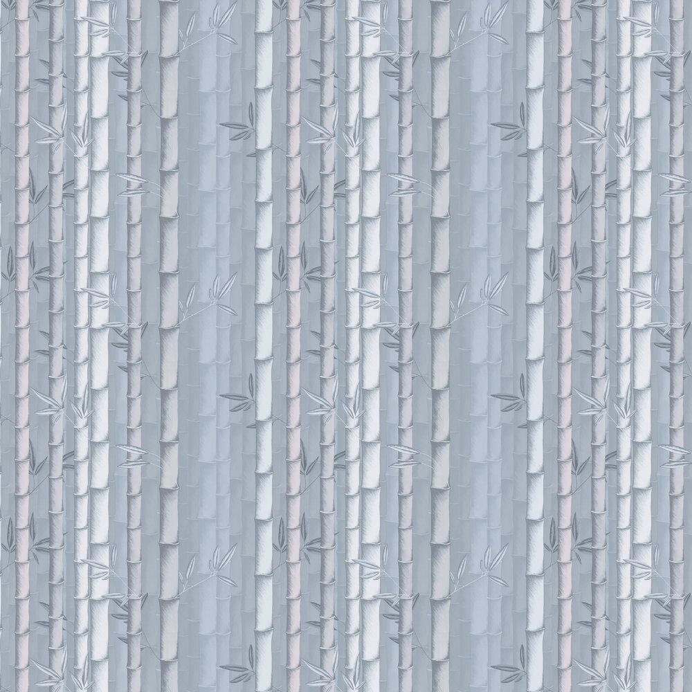 Bamboo Wallpaper - Steel - by Osborne & Little