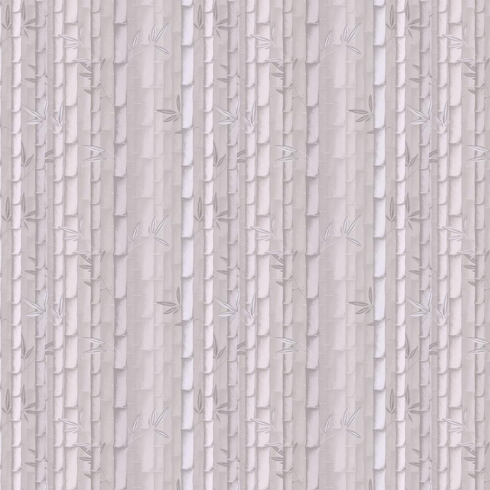 Bamboo Wallpaper - Silver - by Osborne & Little