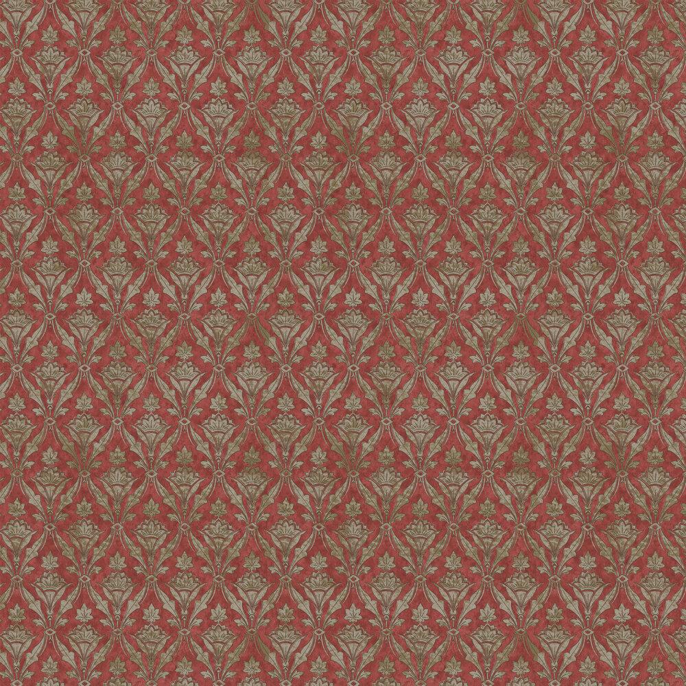 Borough High St Wallpaper - Beet - by Little Greene