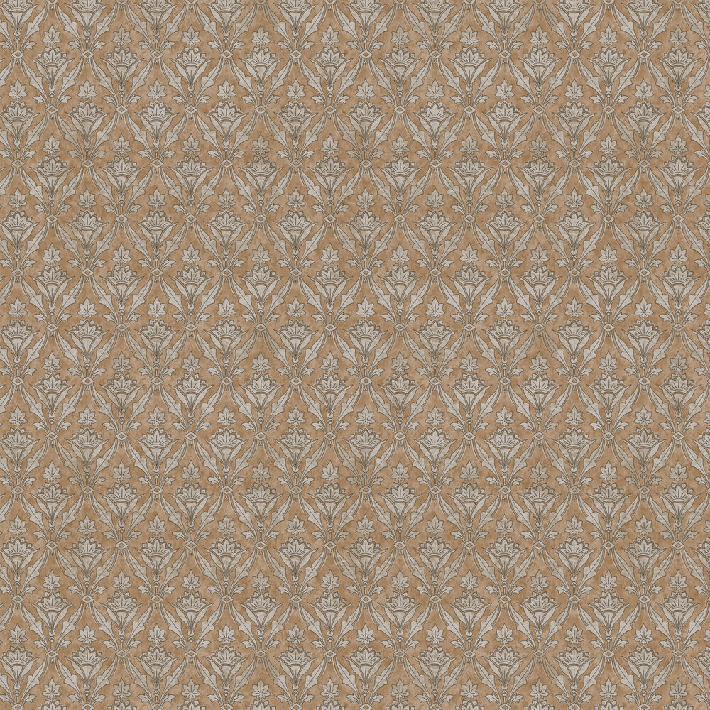 Borough High St Wallpaper - Gold - by Little Greene