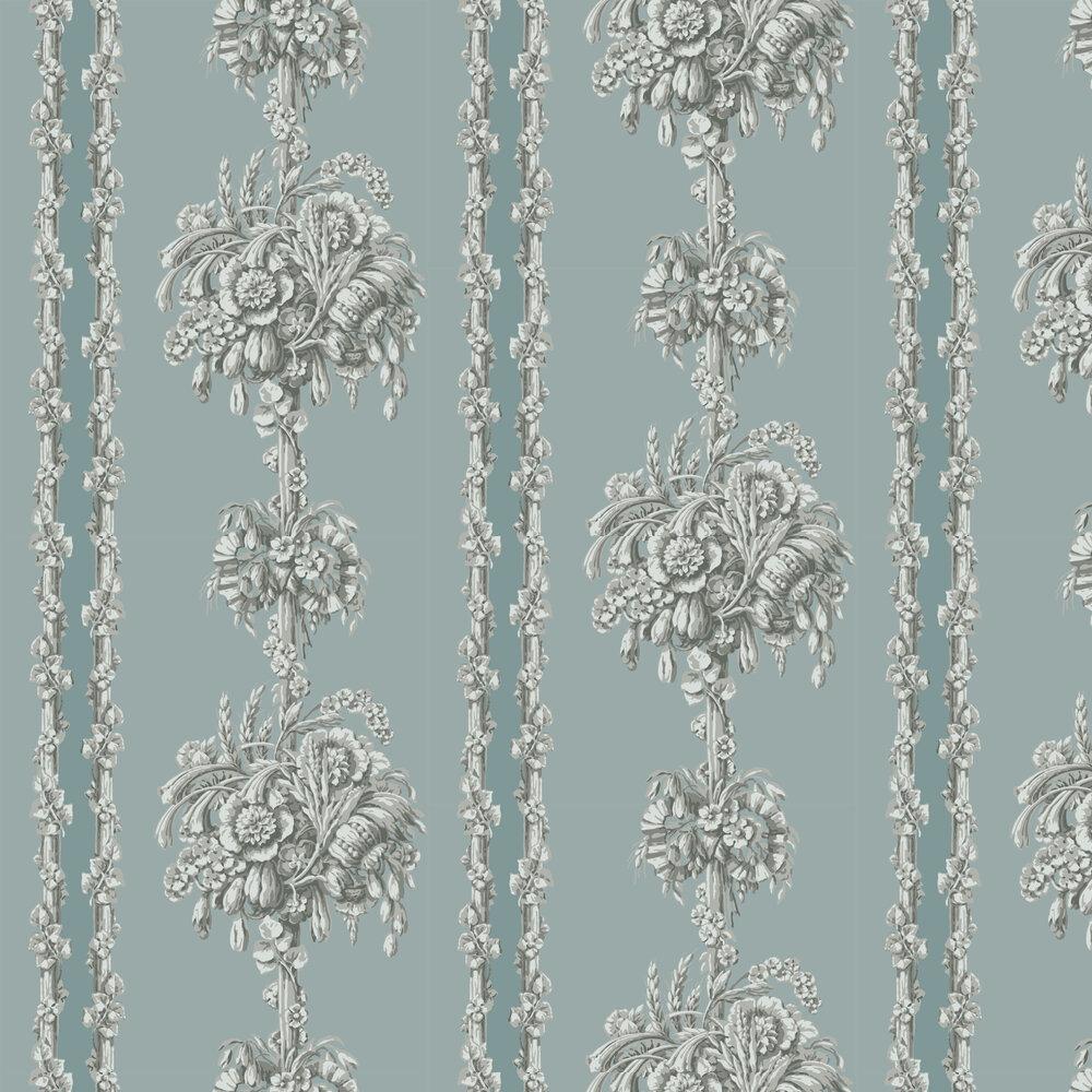 Chelsea Bridge Wallpaper - Archive Blue - by Little Greene