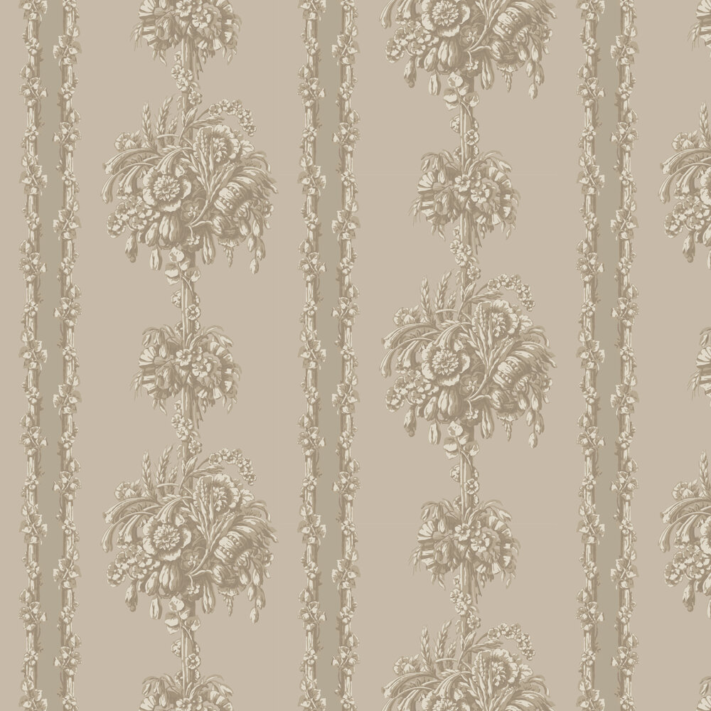 Chelsea Bridge Wallpaper - Medal - by Little Greene
