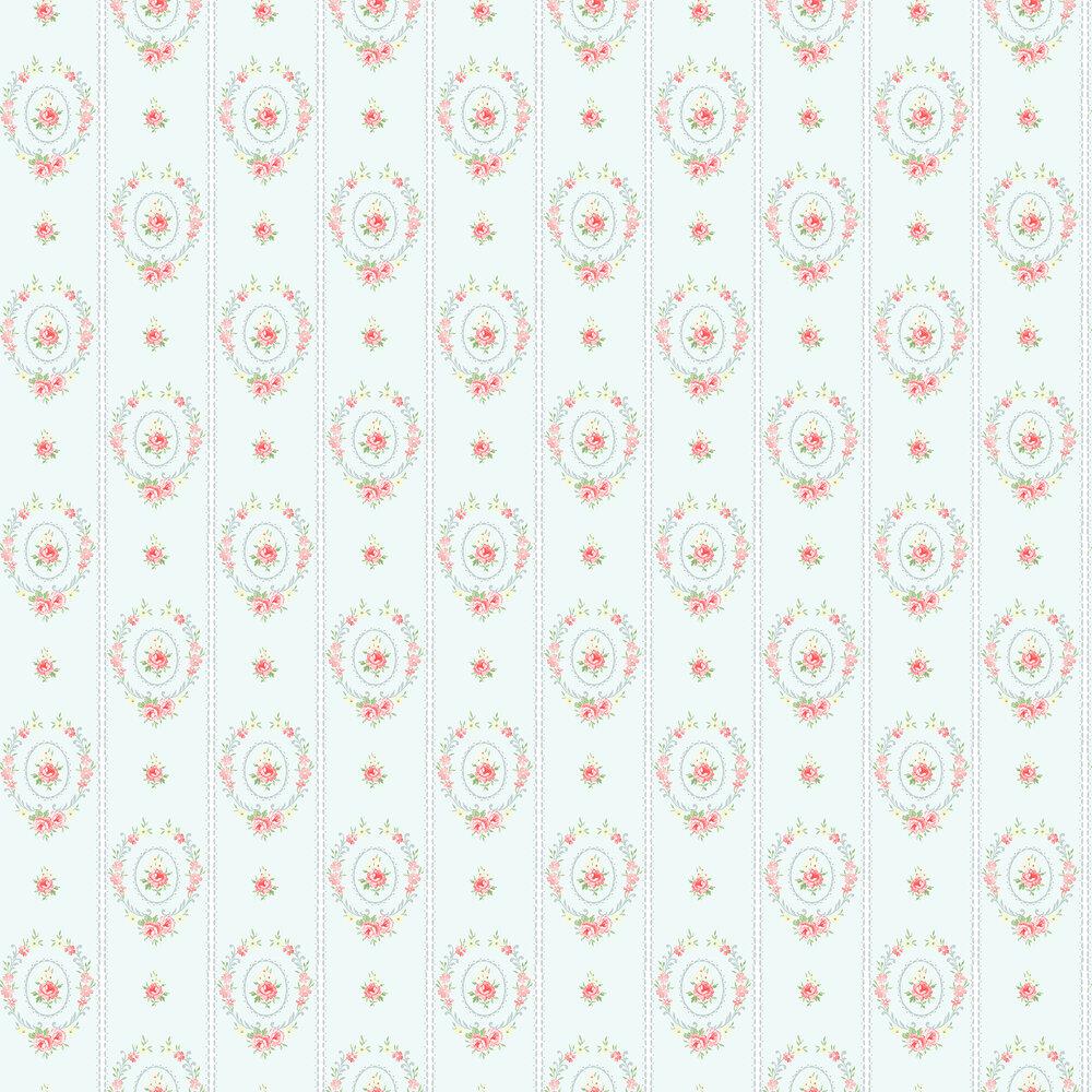 Elizabeth Ockford Maria  Duck Egg Blue Wallpaper - Product code: LL 00300