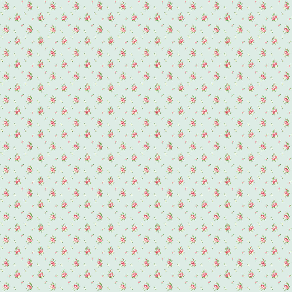 Elizabeth Ockford Betty Duck Egg Blue Wallpaper - Product code: LL 00301