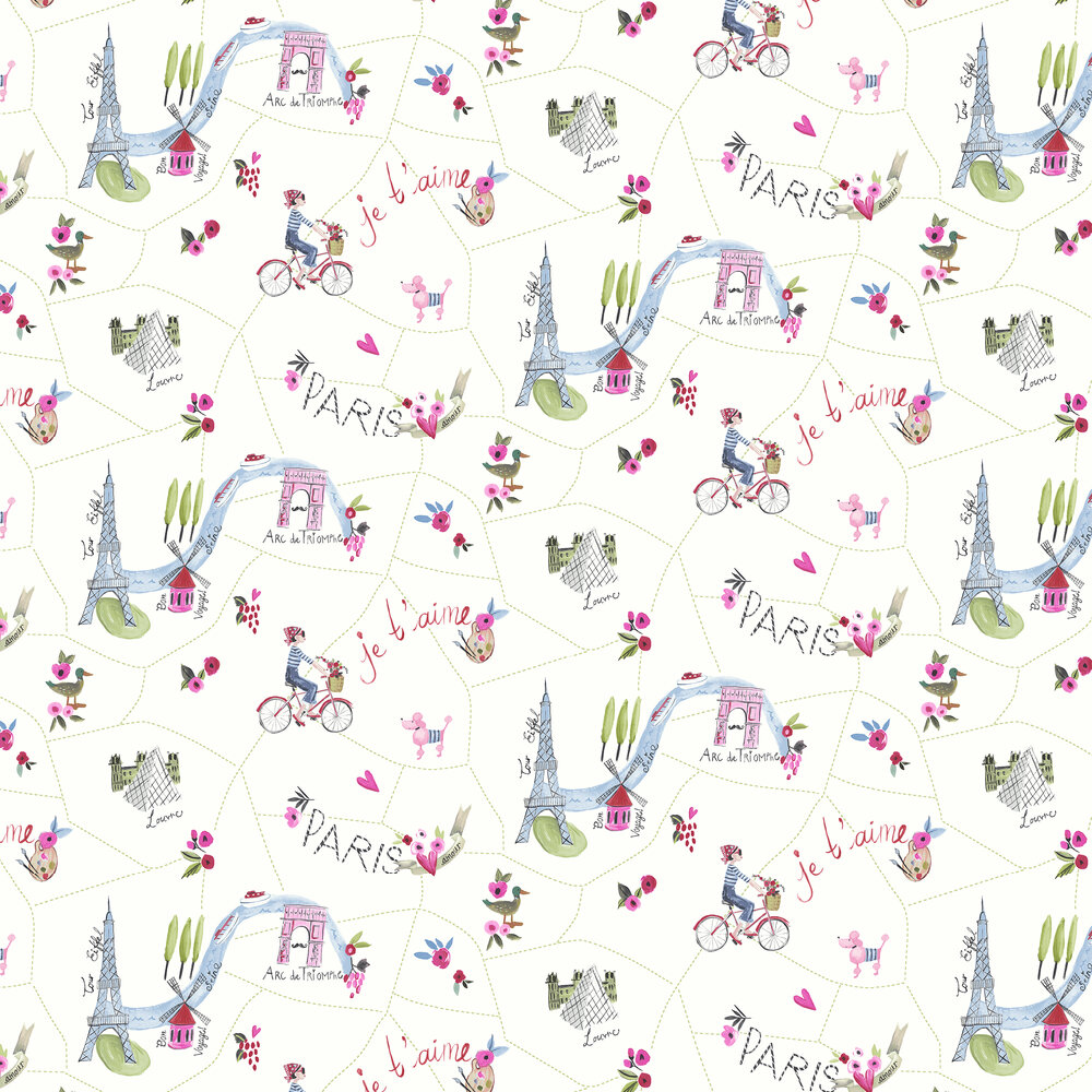 Arthouse Paris with Love White Wallpaper - Product code: 696105