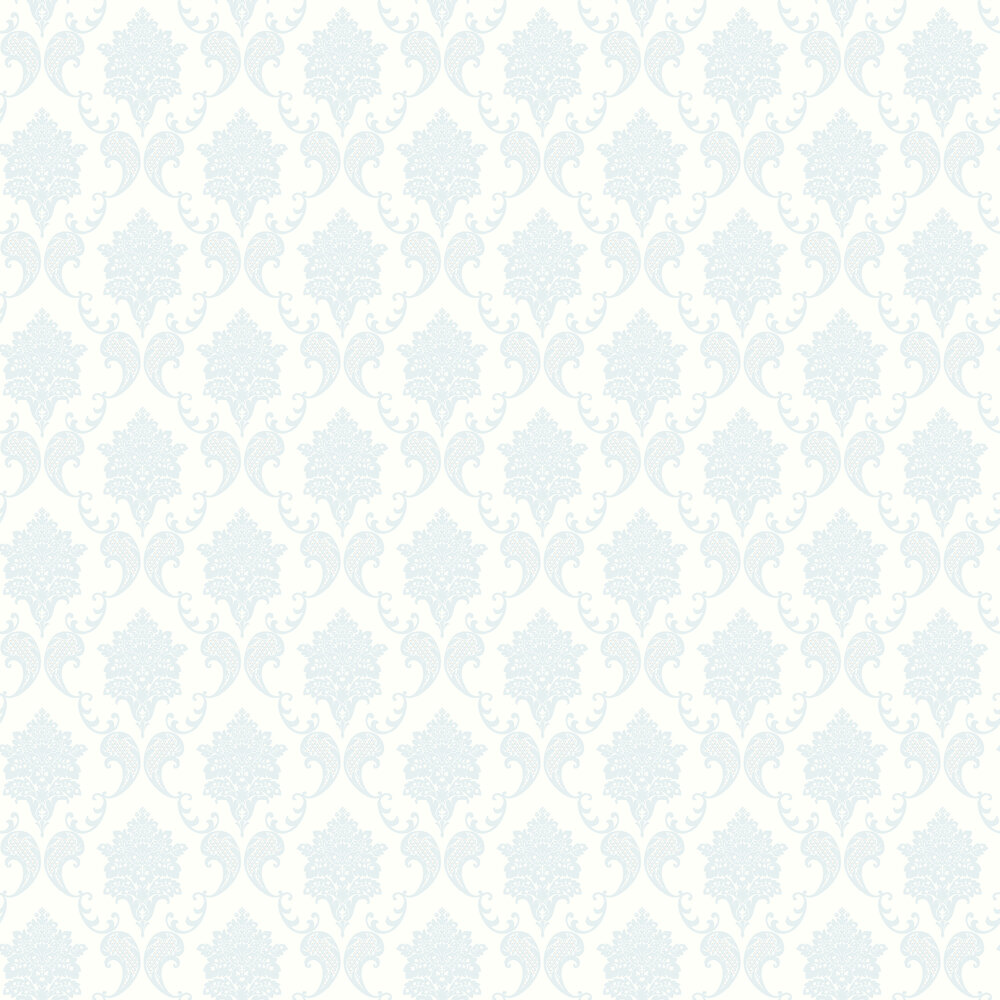 Elizabeth Ockford Grace Sky / White Wallpaper - Product code: LL 00324