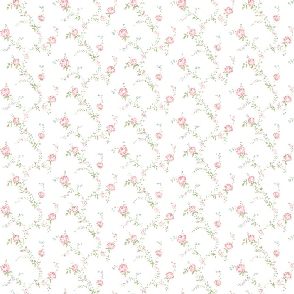 Elizabeth Ockford Rose Buttermilk / Pink Wallpaper - Product code: LL 00336