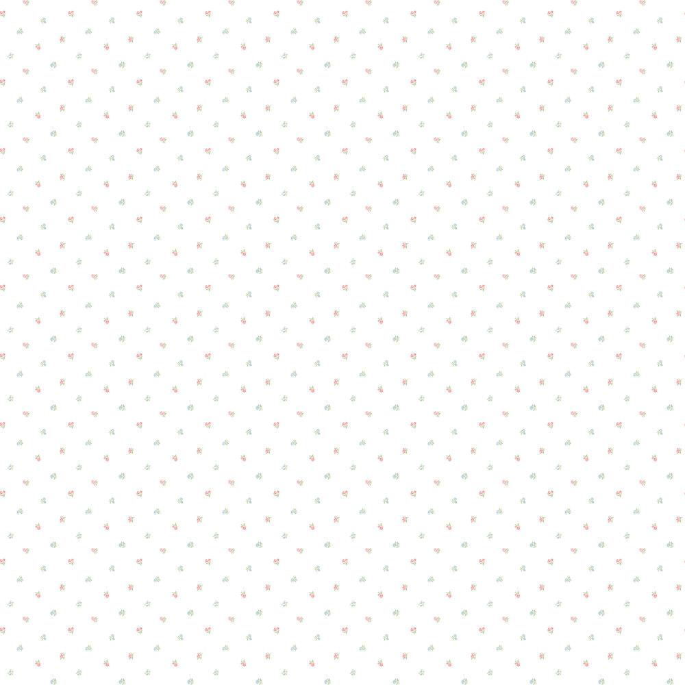 Elizabeth Ockford Minnie Buttermilk / Pink Wallpaper - Product code: LL 00337