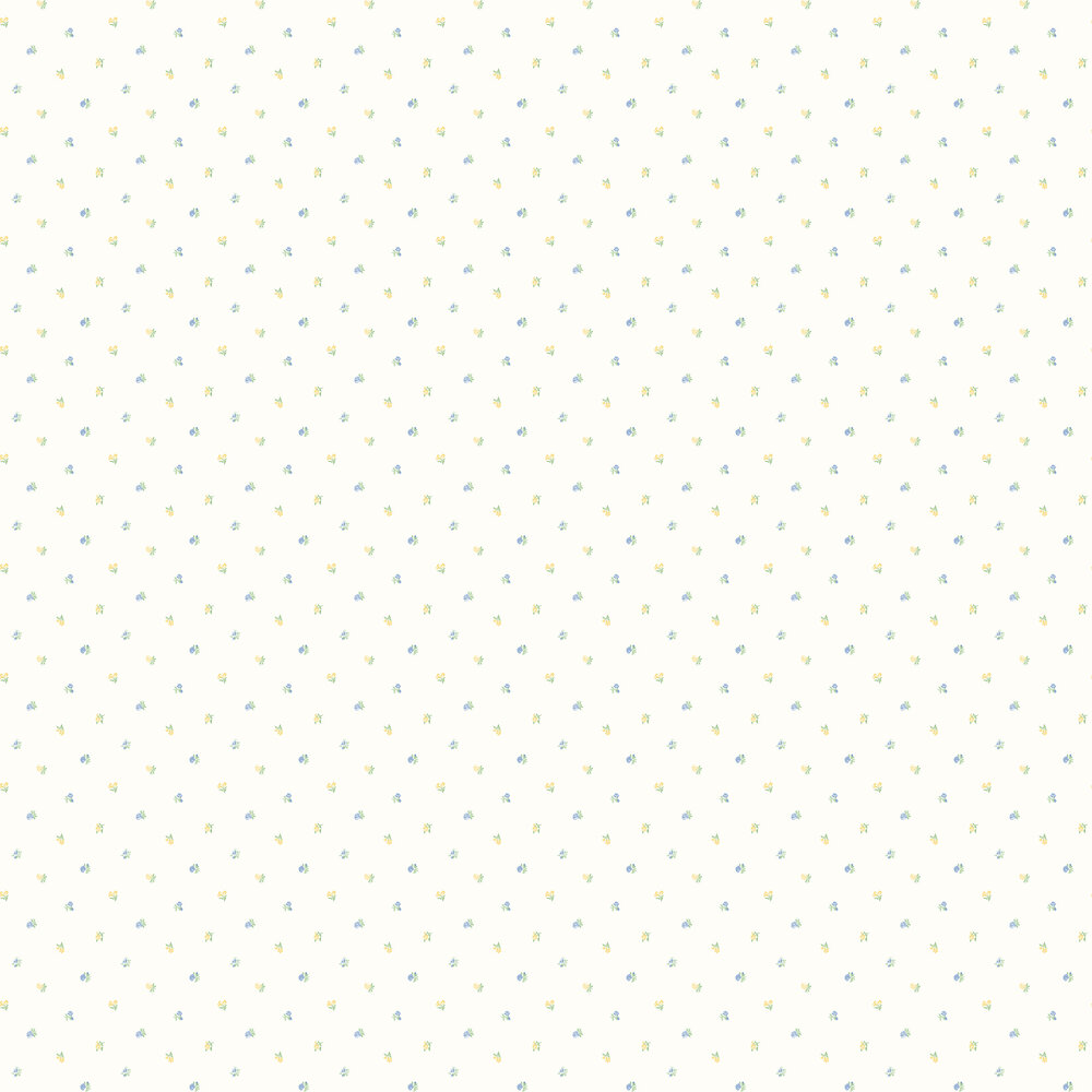 Elizabeth Ockford Minnie Blue / Yellow Wallpaper - Product code: LL 00343