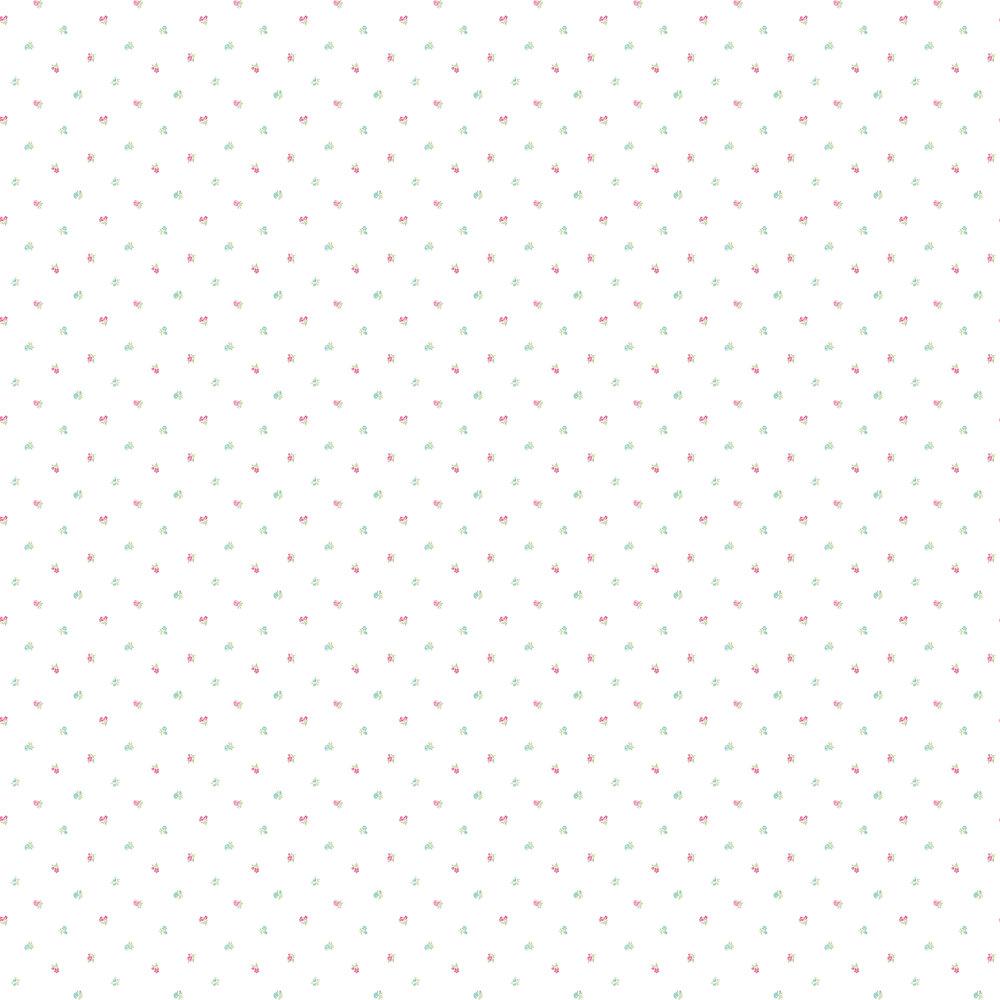 Elizabeth Ockford Minnie Mint / Fuchsia Wallpaper - Product code: LL 00345