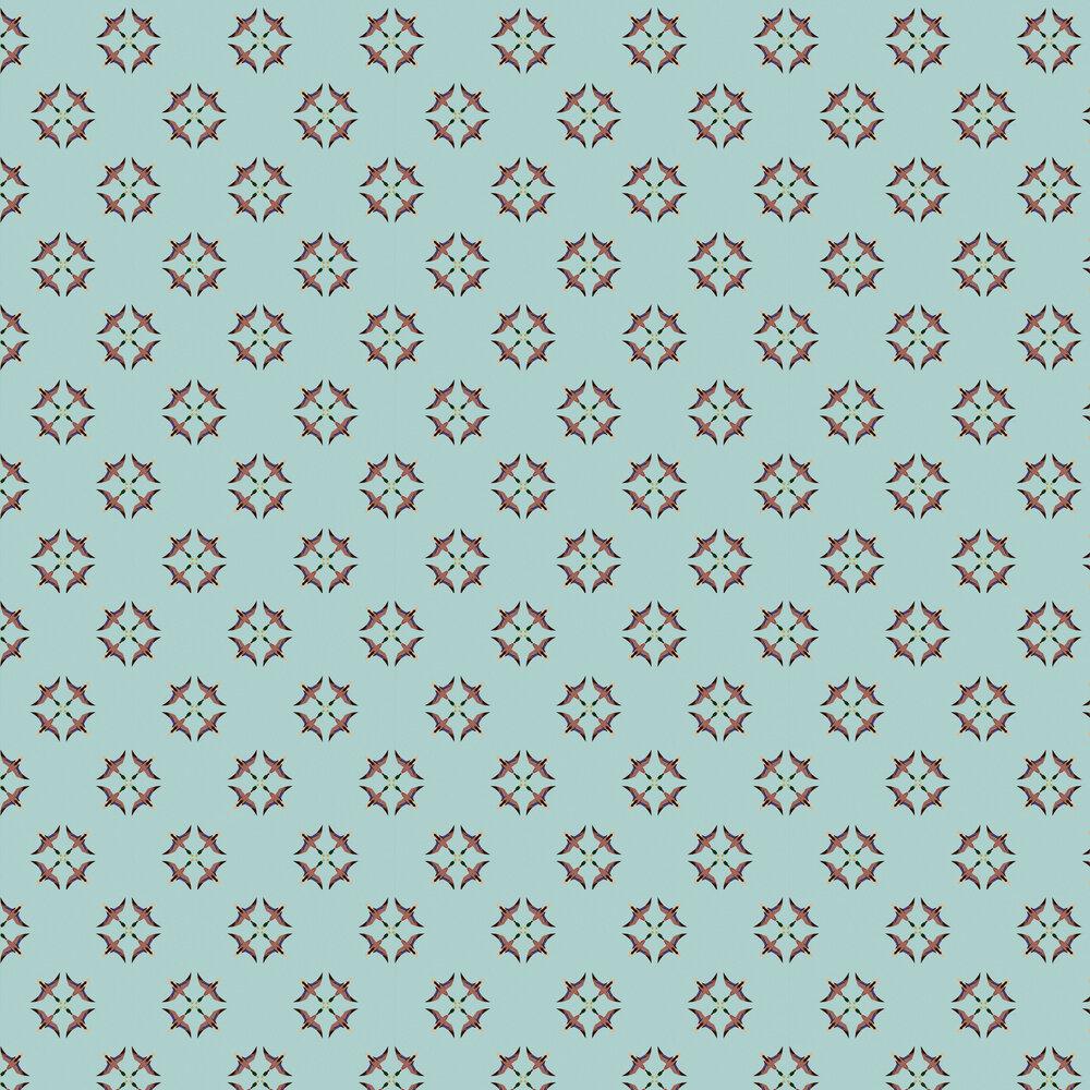 El Baile De Pato Wallpaper - Blue - by Coordonne