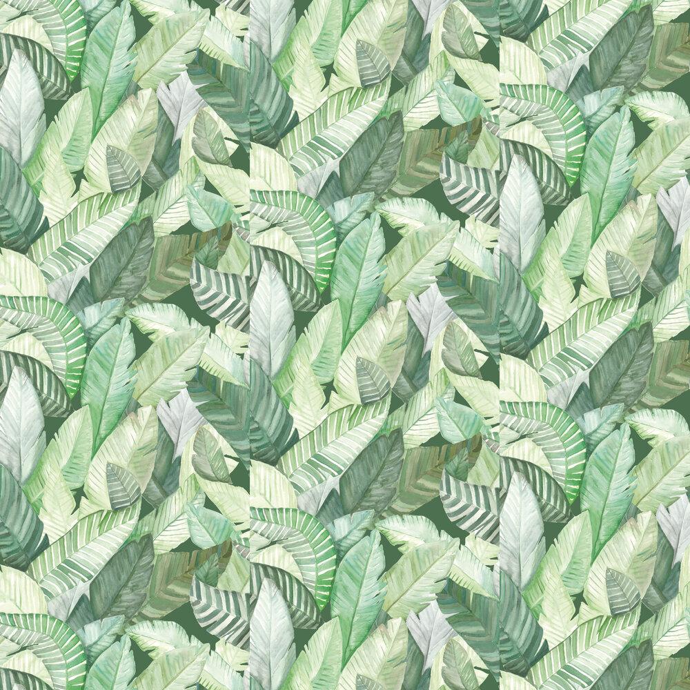 Banano Wallpaper - Green - by Coordonne