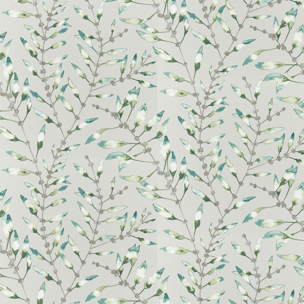 Chaconia Wallpaper - Emerald / Lime - by Harlequin