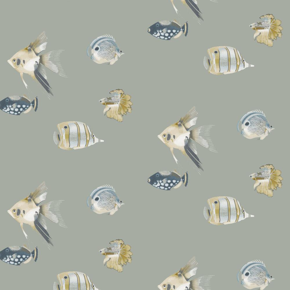 Harlequin Kamanu Graphite / Mustard Wallpaper - Product code: 111646