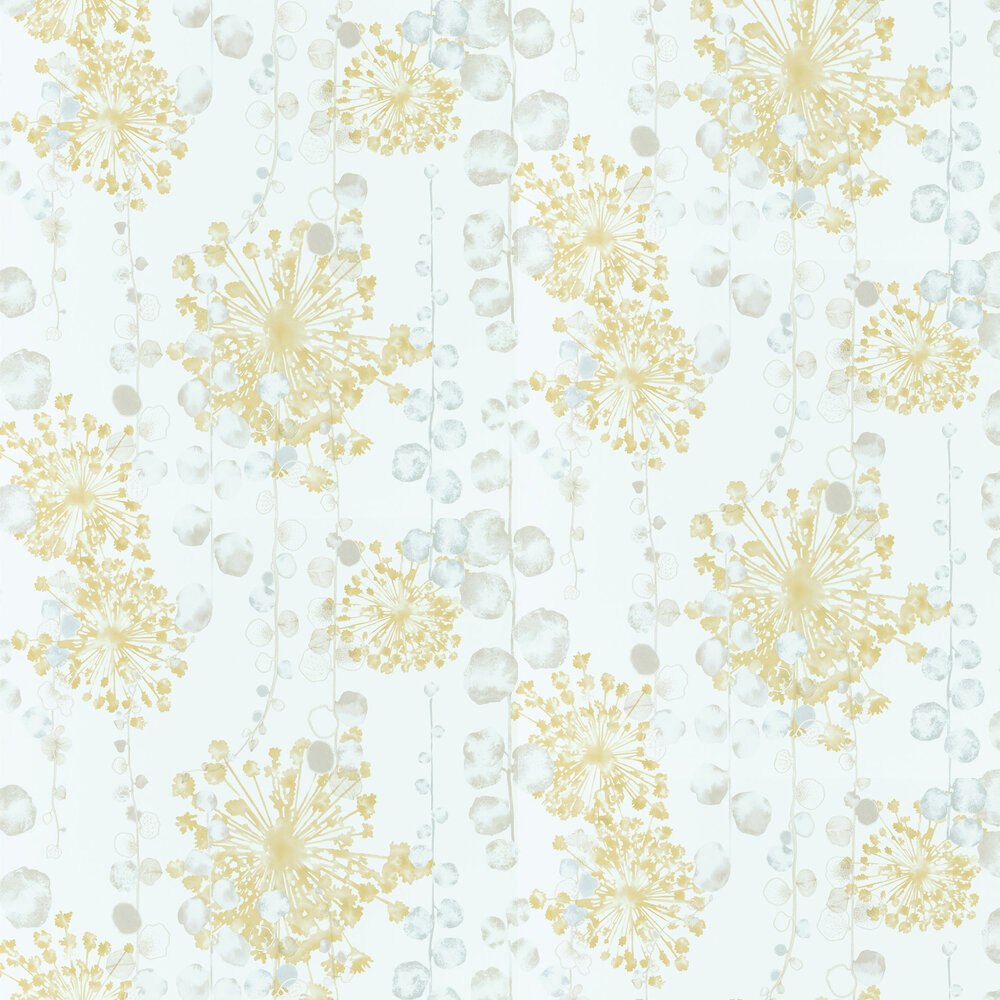 Moku By Harlequin Ochre Seaspray Wallpaper Wallpaper Direct