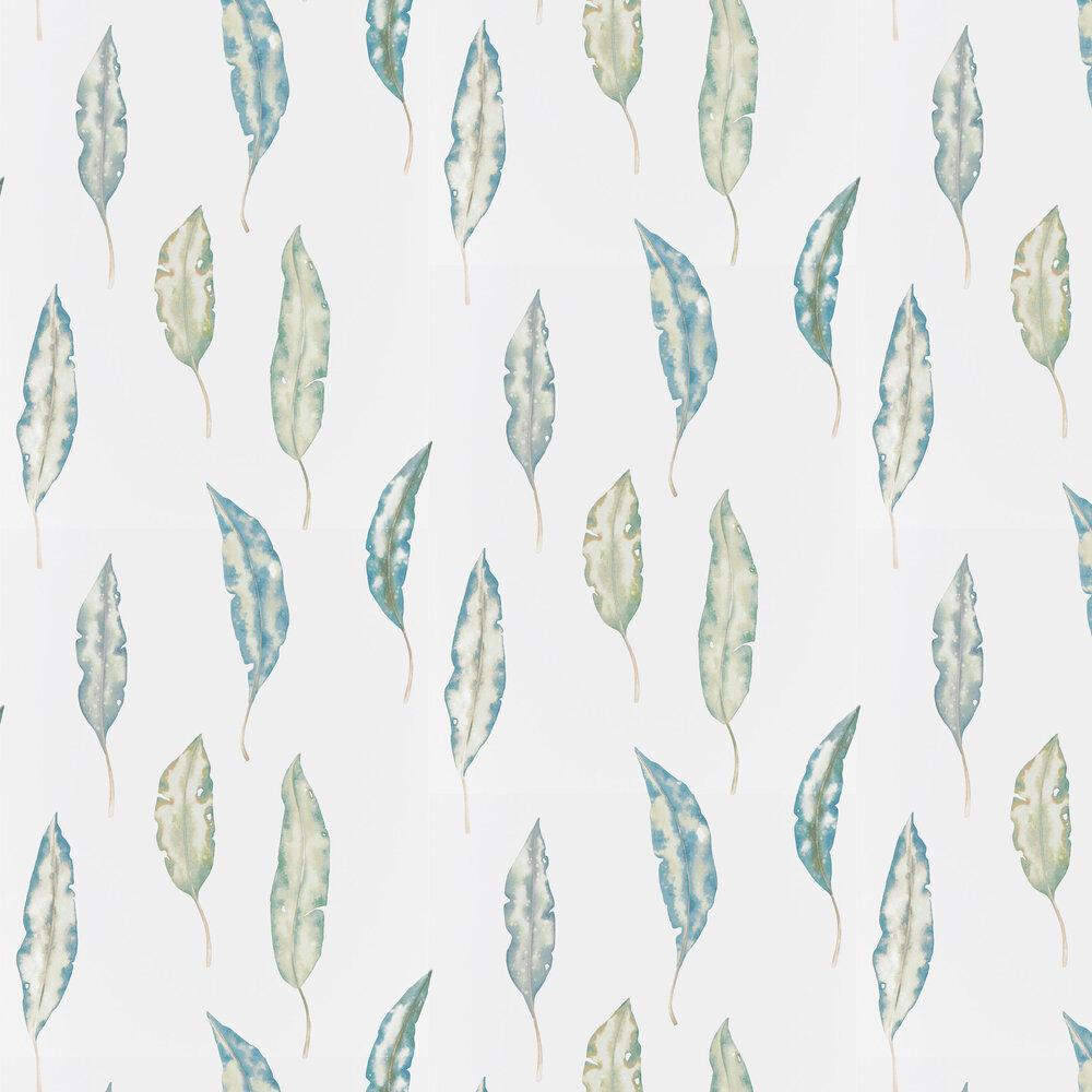 Kinina Wallpaper - Marine / Lime - by Harlequin