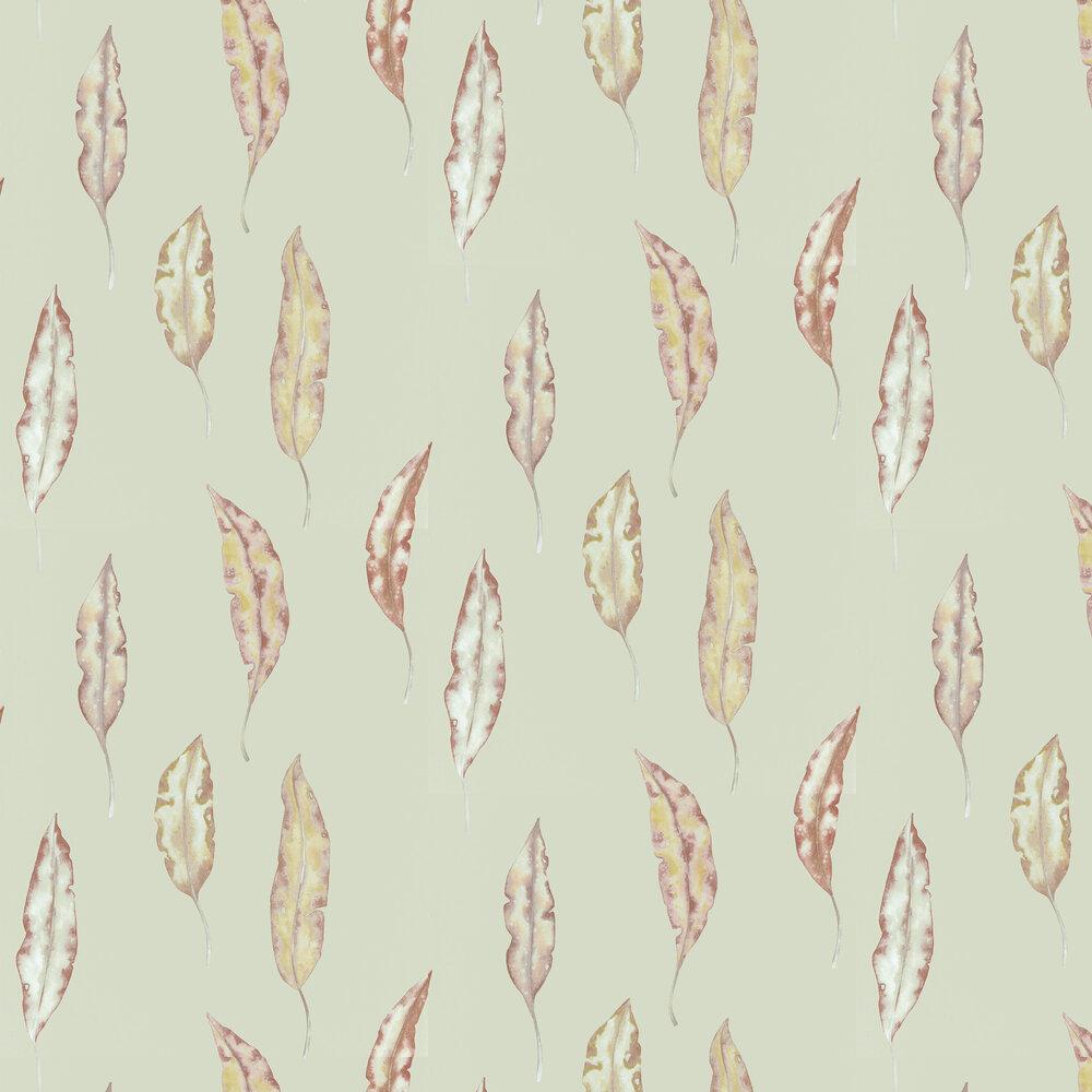 Kinina Wallpaper - Mandarin / Fig - by Harlequin