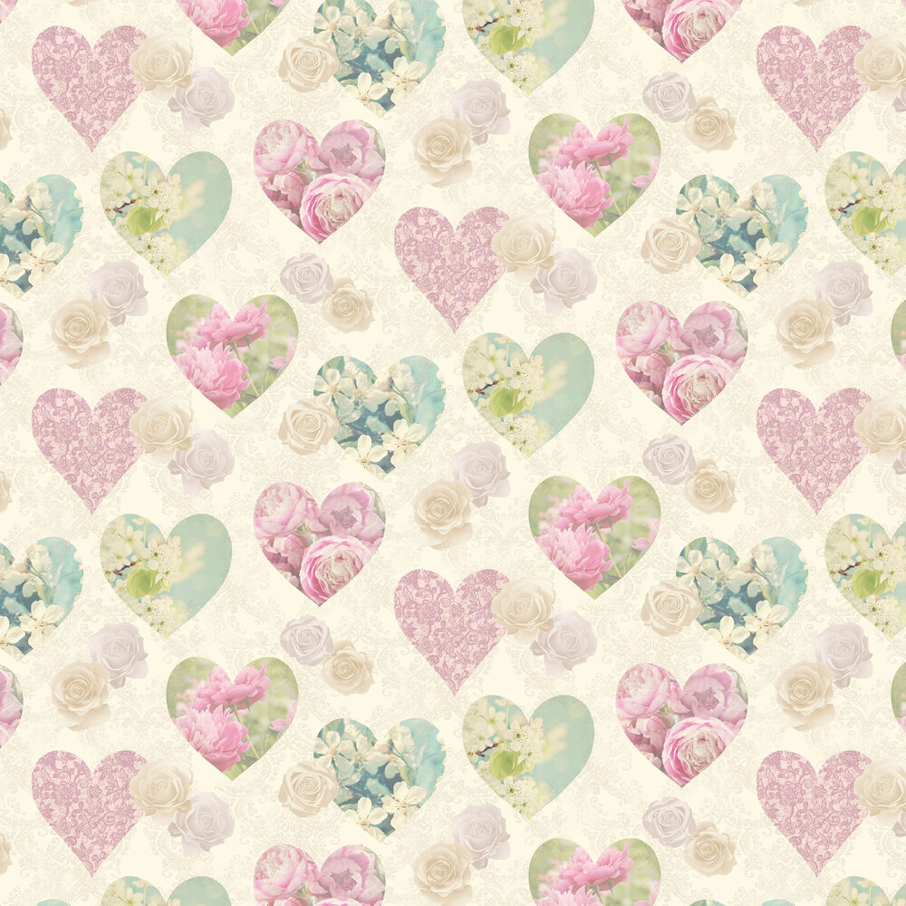 Hearts Wallpaper - Sepia - by Albany