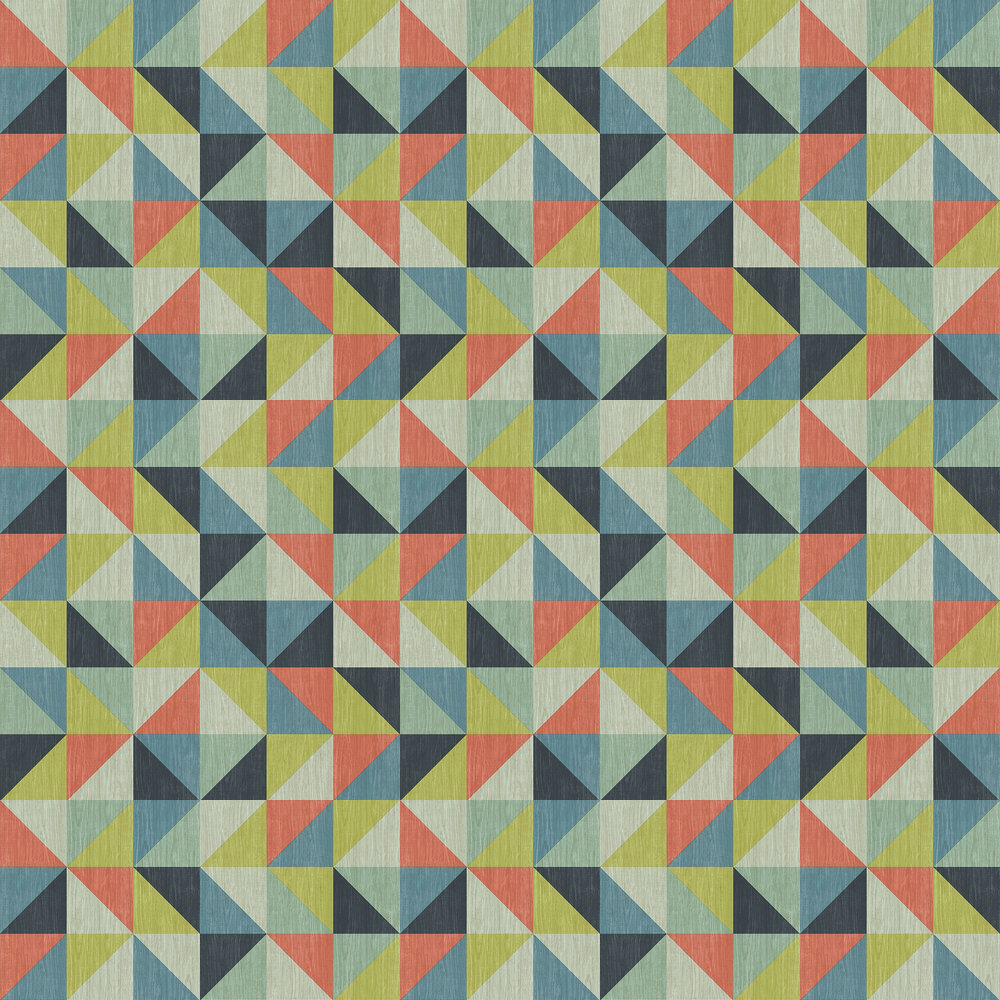 Geometrie Puzzle Wallpaper - Multi-coloured - by Albany