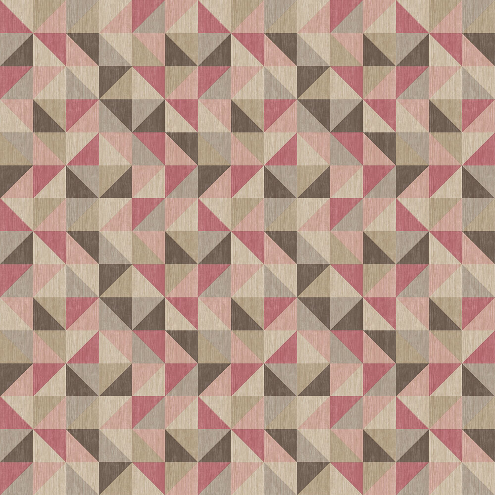 Geometrie Puzzle Wallpaper - Pink - by Albany