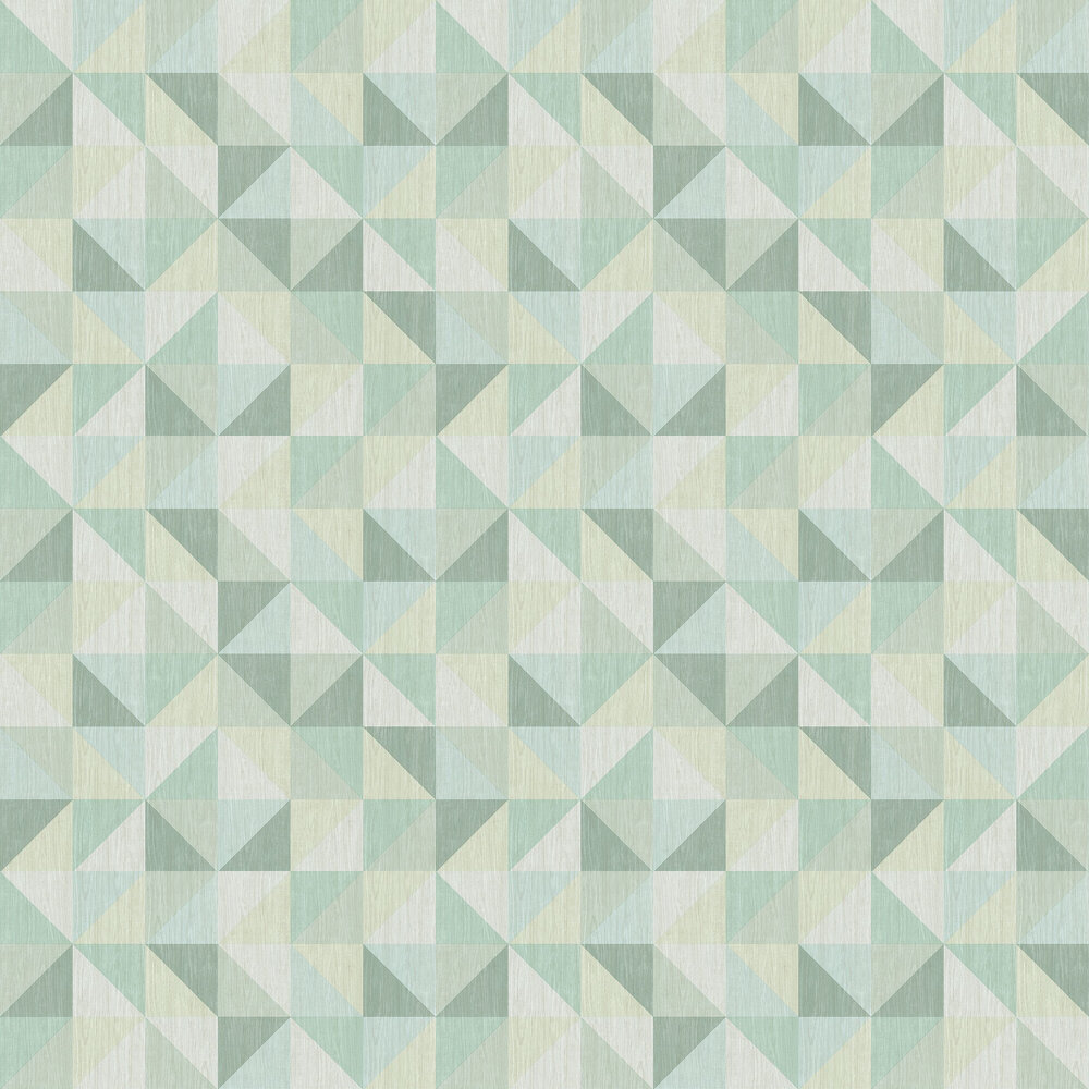 Geometrie Puzzle Wallpaper - Teal - by Albany
