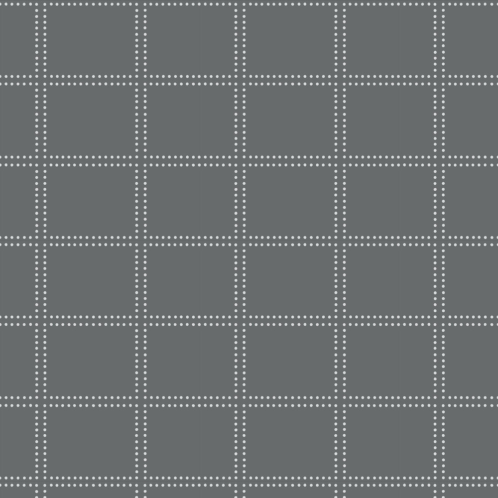 Geometrie Gridlock Wallpaper - Charcoal Grey - by Albany