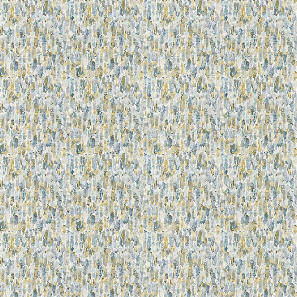 Kelambu Wallpaper - Graphite / Mustard - by Harlequin