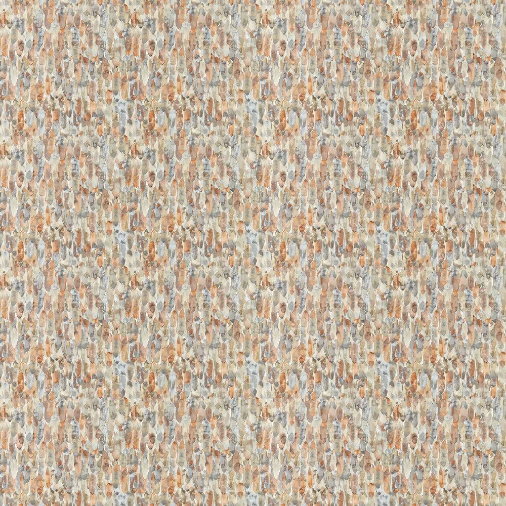 Kelambu Wallpaper - Amber / Slate - by Harlequin