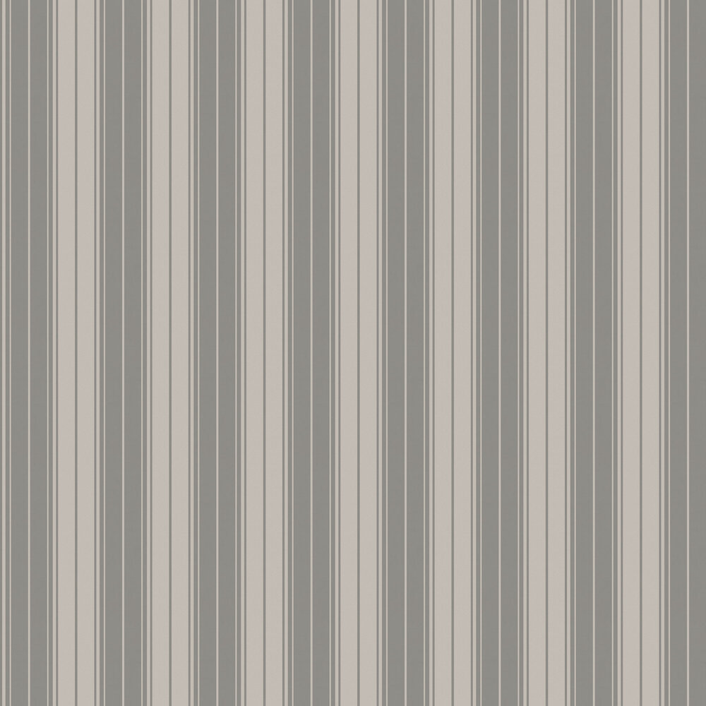 Clara Stripe Wallpaper - Charcoal - by Albany