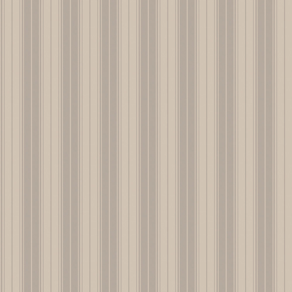 Clara Stripe Wallpaper - Taupe - by Albany