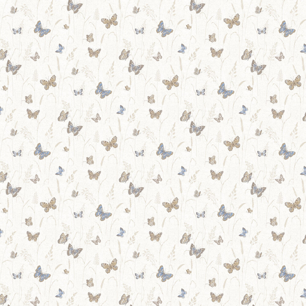 Meadow Butterflies Wallpaper - Pale Blue - by Galerie