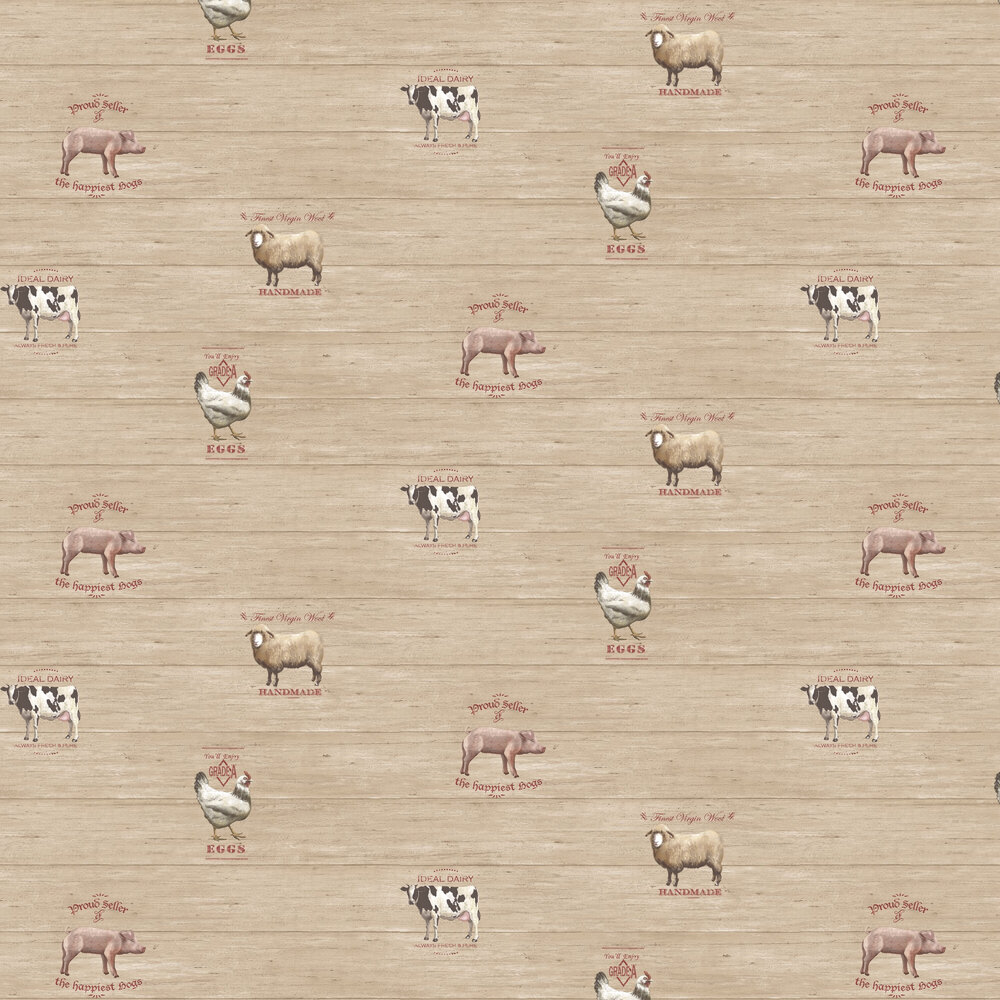 Galerie Farmyard  Beige Wallpaper - Product code: G12301