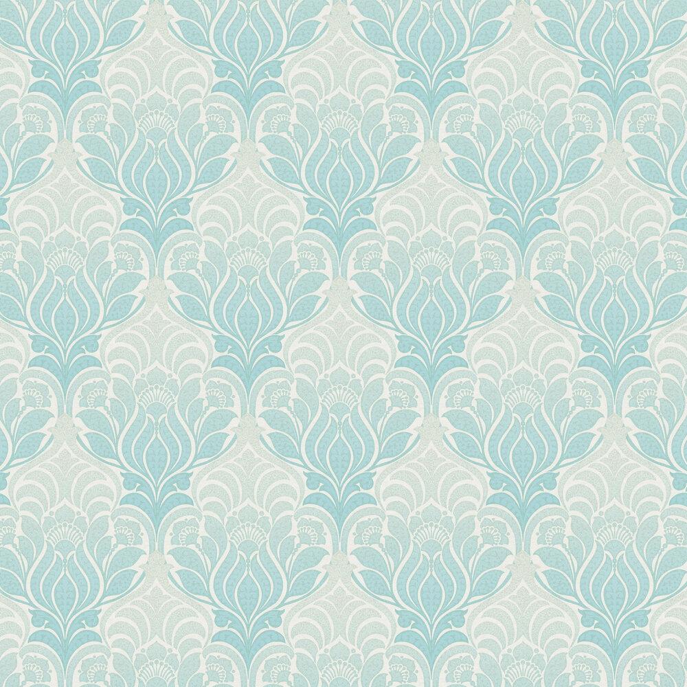 Twill Wallpaper - Aqua Blue - by Brewers