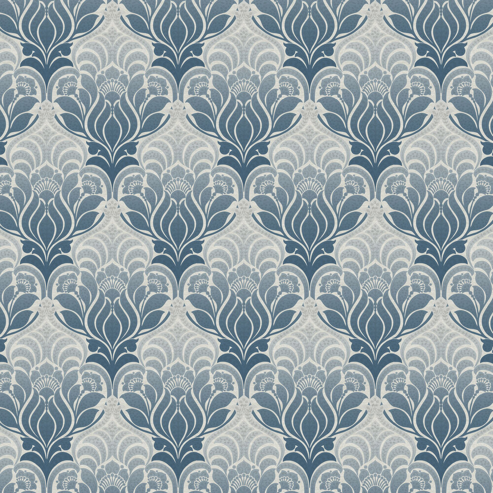 Twill Wallpaper - Denim Blue - by Brewers