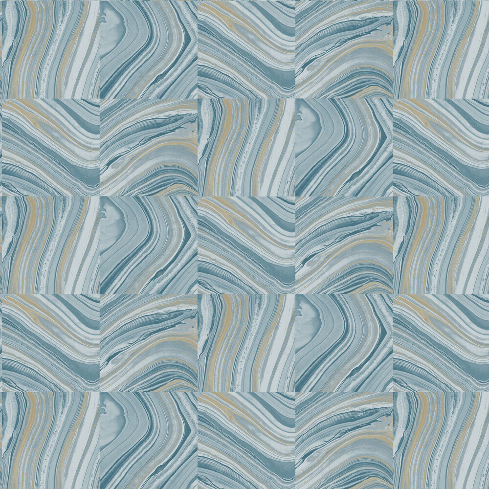 Agate Wallpaper - Denim Blue - by Brewers