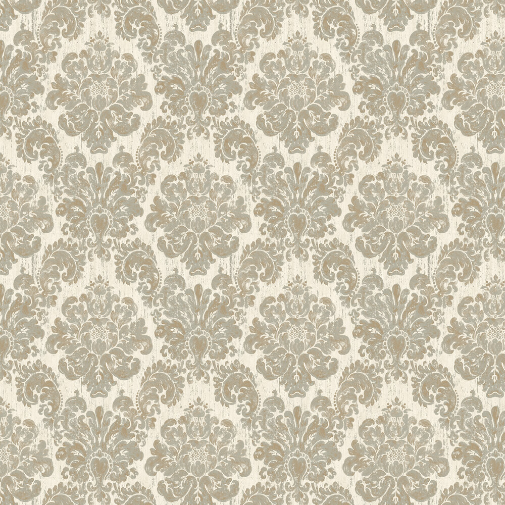 Elizabeth Ockford Fernhurst Cream Wallpaper - Product code: EO00200