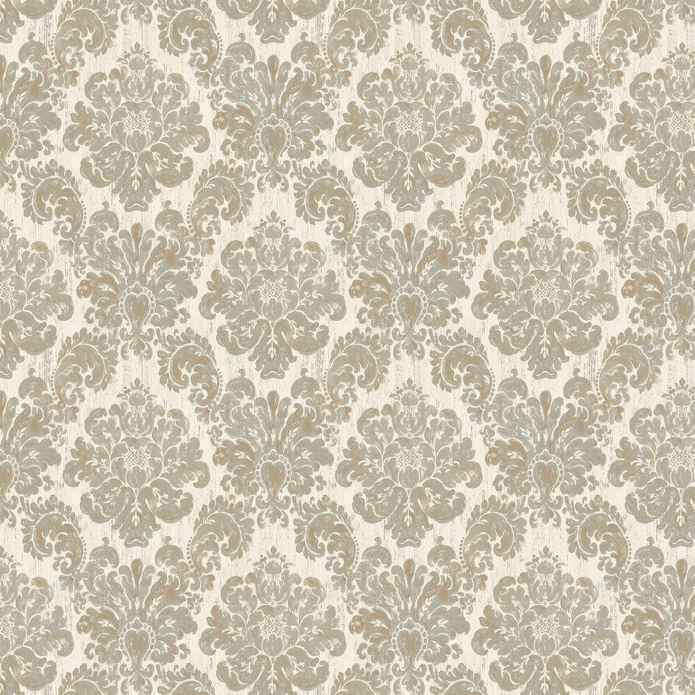 Fernhurst Wallpaper - Cream - by Elizabeth Ockford