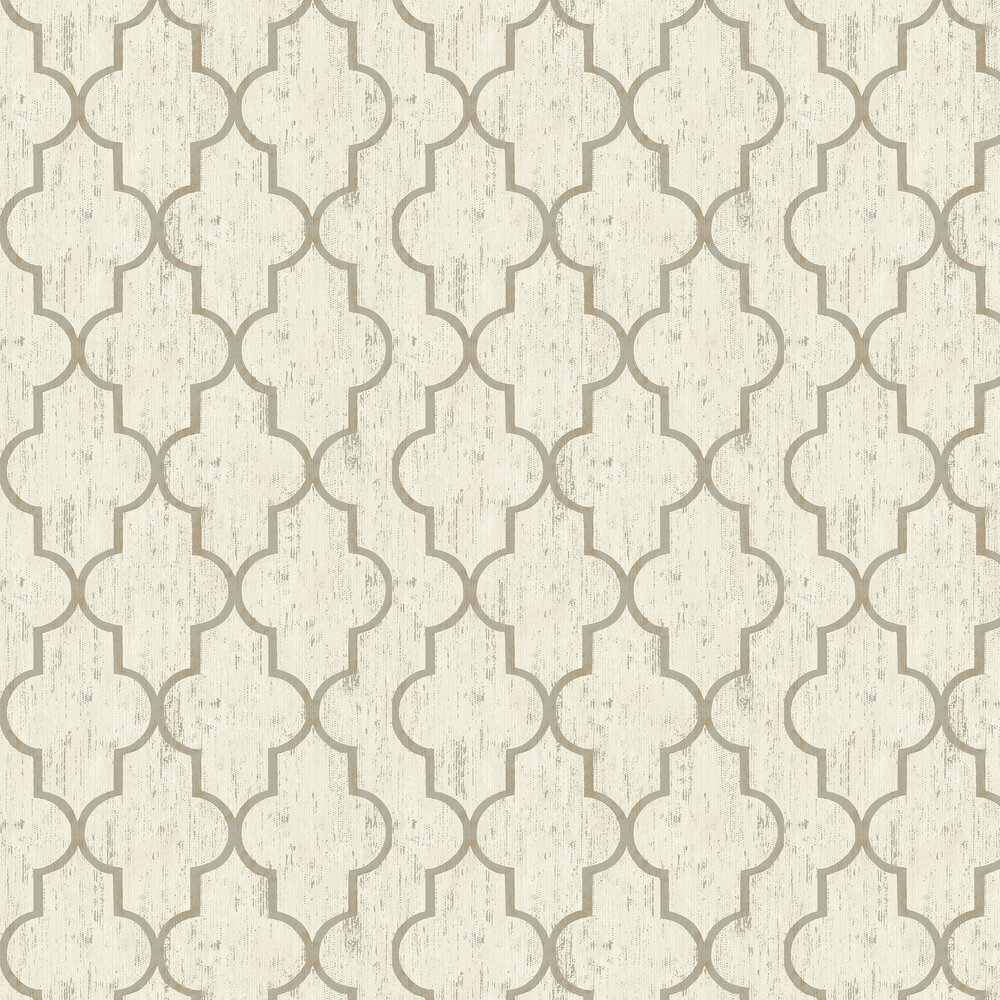 Elizabeth Ockford Clayton Cream Wallpaper - Product code: EO00201