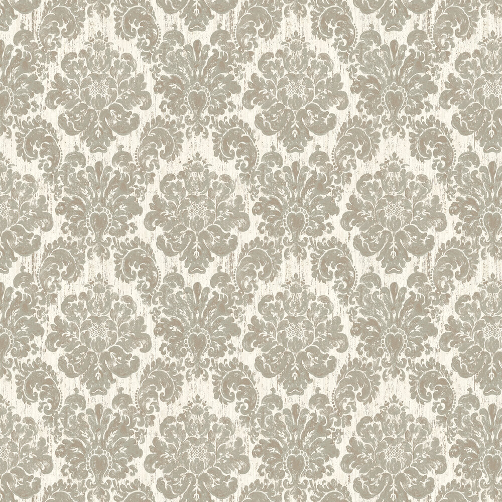 Fernhurst Wallpaper - White - by Elizabeth Ockford
