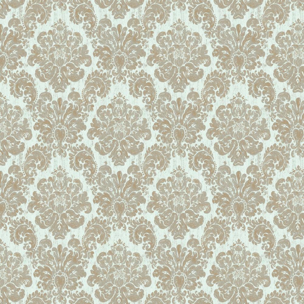 Fernhurst Wallpaper - Aqua - by Elizabeth Ockford