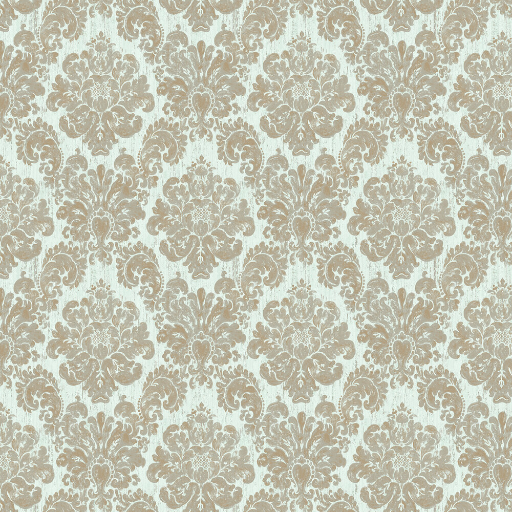 Elizabeth Ockford Fernhurst Aqua Wallpaper - Product code: EO00206