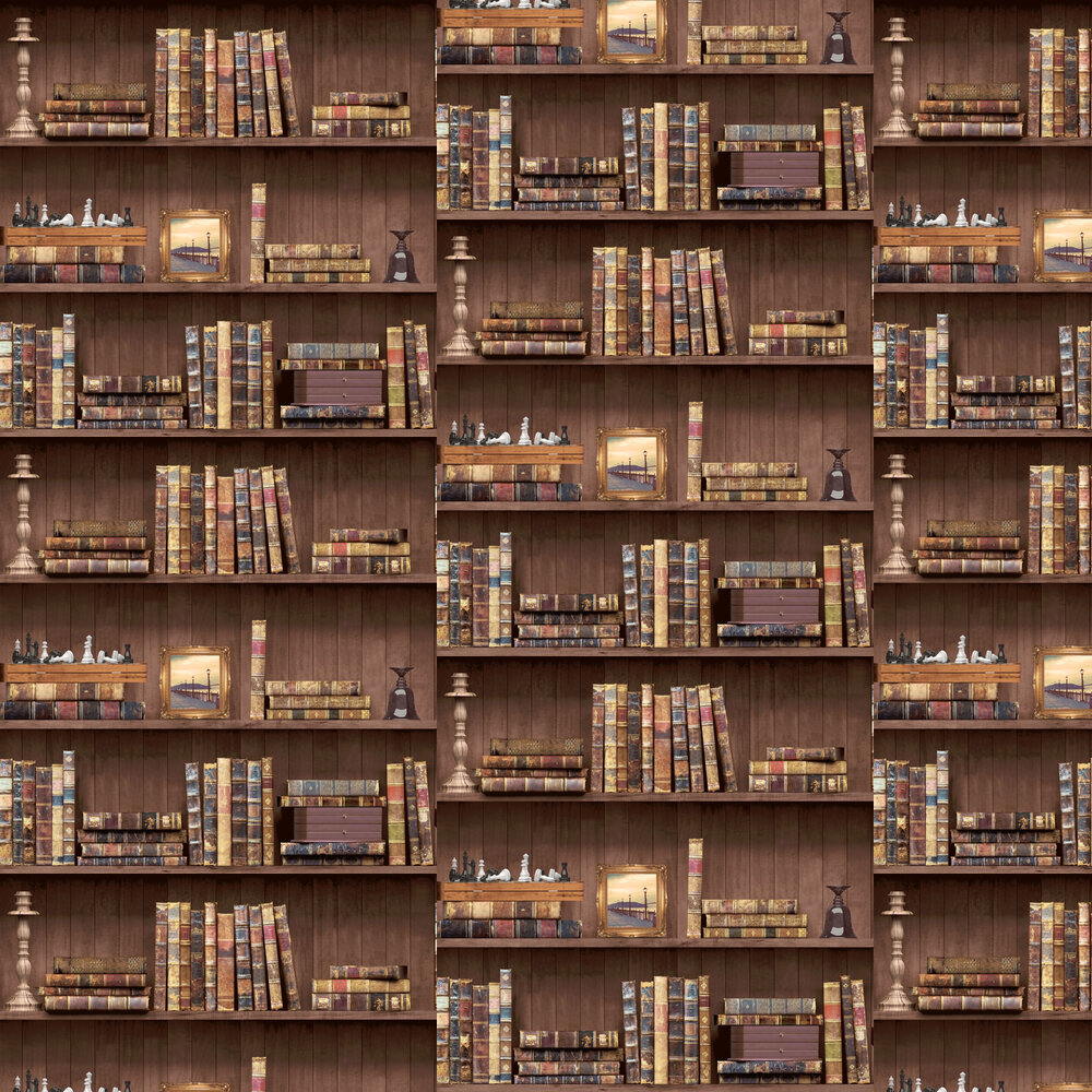 Albany Vintage Books Brown Wallpaper - Product code: 11950