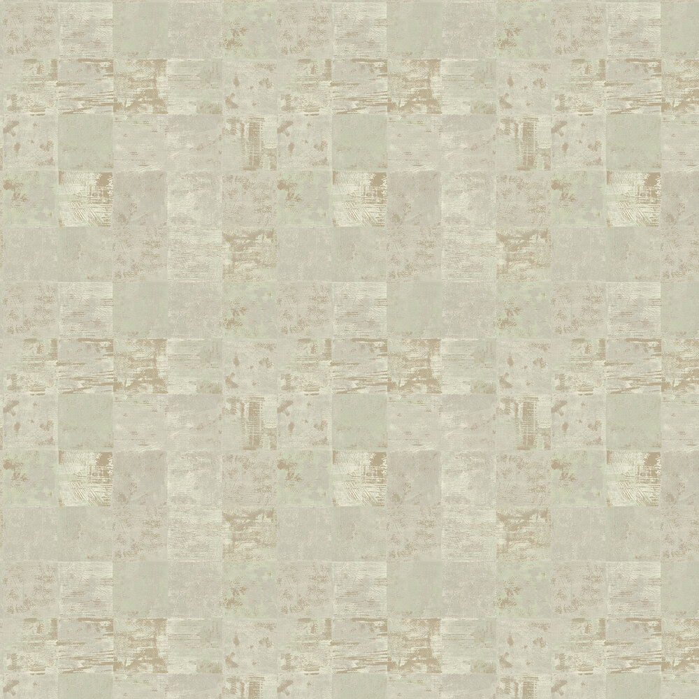 Ditchling Wallpaper - Aqua - by Elizabeth Ockford