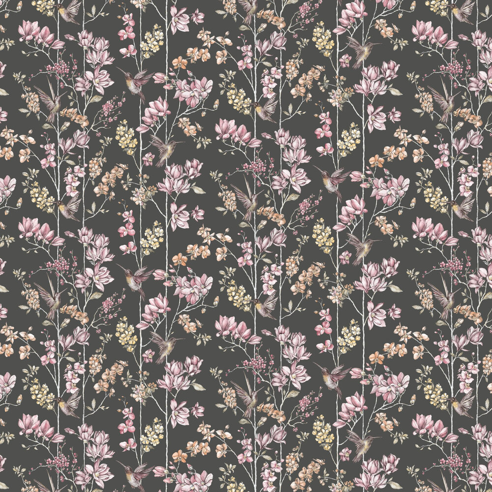 Albany Charm Charcoal Wallpaper - Product code: 12393