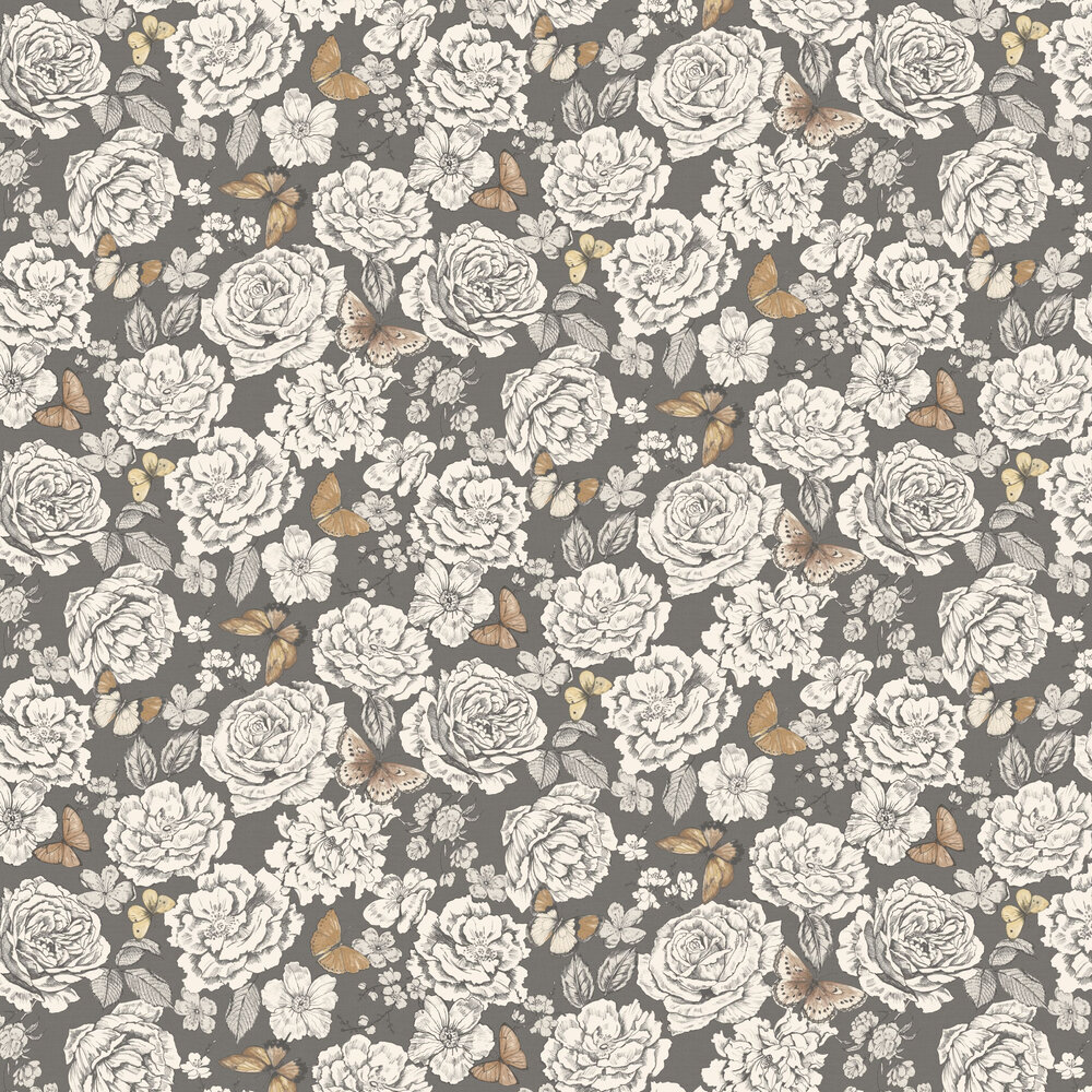 Albany Primrose Charcoal Wallpaper - Product code: 98831